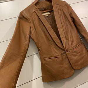 Michael Kors leather blazer